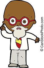 cartoon professor