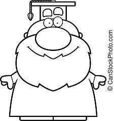 Cartoon Professor Smiling
