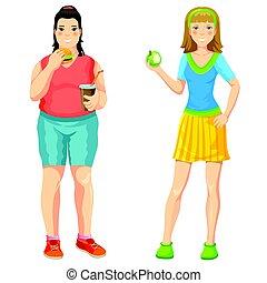 Cartoon Proper Nutrition Concept