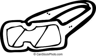 cartoon protective goggles