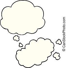 cartoon puff of smoke and thought bubble - cartoon puff of...