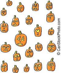 Cartoon Pumpkin Faces