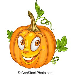 Cartoon Pumpkin Vegetable