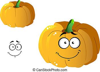 Cartoon pumpkin vegetable