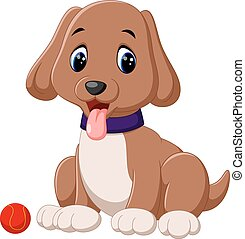 cartoon puppy - Illustration of cute  puppy cartoon