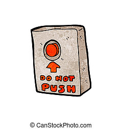 cartoon push button