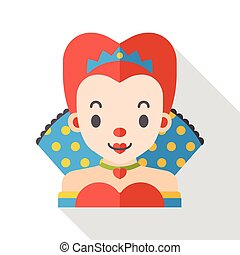 cartoon queen flat icon