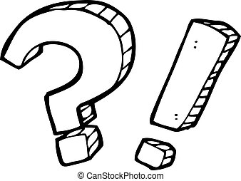 cartoon question marks