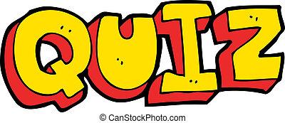 cartoon quiz sign