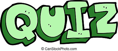 cartoon quiz sign