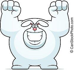 Cartoon Rabbit Celebrating