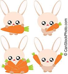 Cartoon rabbit illustration