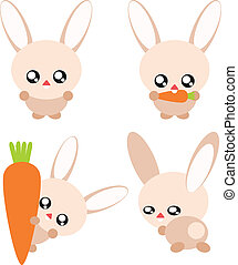 Cartoon rabbit illustration