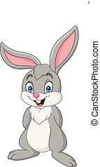 Cartoon rabbit isolated on white background