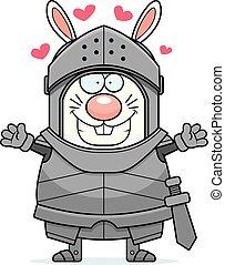 Cartoon Rabbit Knight Hug