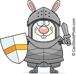Cartoon Rabbit Knight Sword