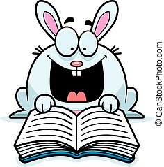 Cartoon Rabbit Reading