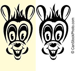 cartoon rabbit silhouettes