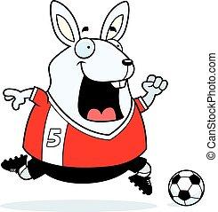 Cartoon Rabbit Soccer