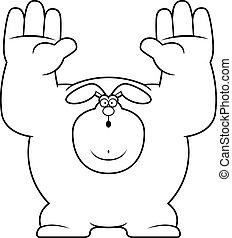 Cartoon Rabbit Surrender