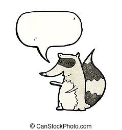 cartoon raccoon