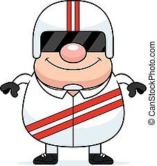 Cartoon Race Car Driver - A cartoon illustration of a race...