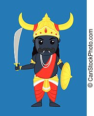 Cartoon Ravan - Sri Lankan God