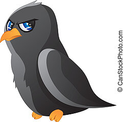 Cartoon raven