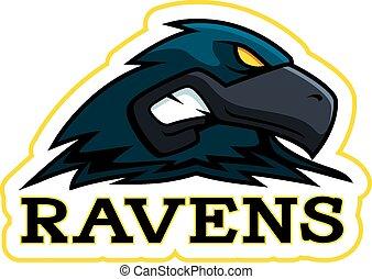 Cartoon Raven Mascot