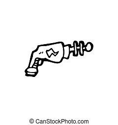 cartoon ray gun