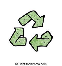 cartoon recycling symbol
