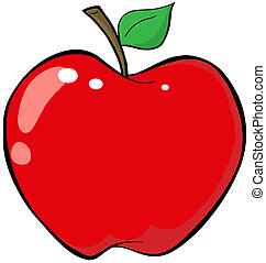 Cartoon Red Apple Cartoon Character
