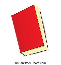 cartoon red book. vector illustration.