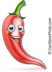 Cartoon Red Chilli Pepper Mascot