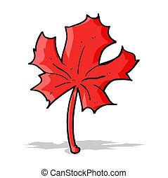cartoon red maple leaf