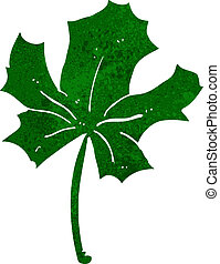 cartoon red maple leaf