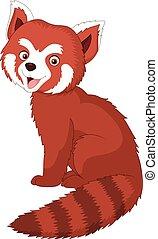 Cartoon red panda - Vector illustration of Cartoon red panda