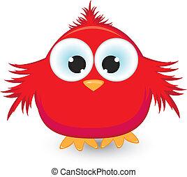 Cartoon red sparrow