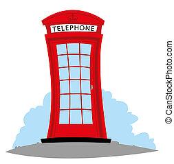 English Telephone - cartoon representing an English...