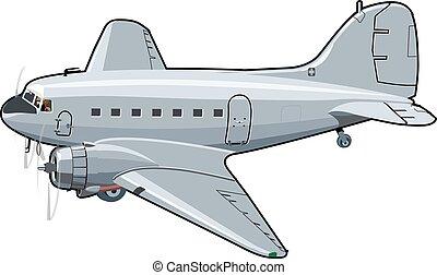 Cartoon Retro Airplane
