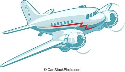 Cartoon Retro Airplane
