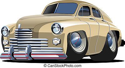 Cartoon retro car isolated on white background. Available...