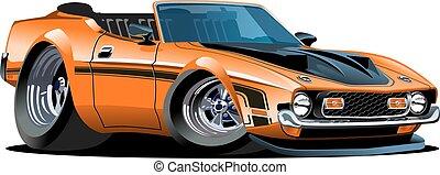 Cartoon retro car