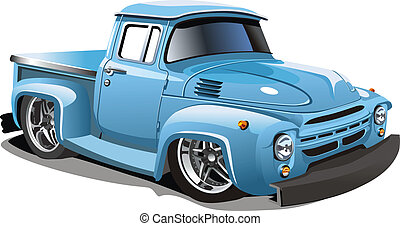 Cartoon retro hot rod isolated on white background....