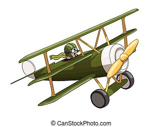 Cartoon Retro Plane. Like a toy. EPS-10 vector format