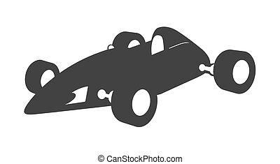 Racing Car Vector Shape