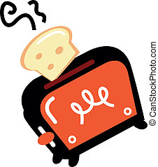 Retro toaster, vector illustration