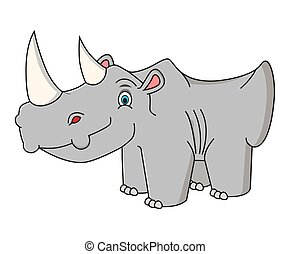 Cartoon rhino vector illustration