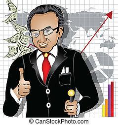 cartoon rich man - Cartoon vector illustration of a smiling...