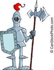 cartoon, ridder